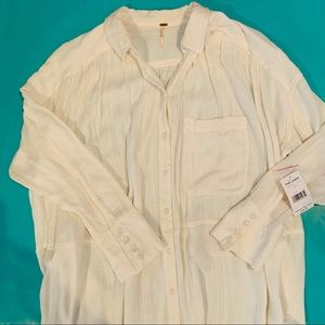 New Free People white tunic top, L